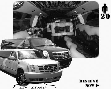 Cadillac Escalade 20 passenger SUV Limousine for rental in Baltimore, MD