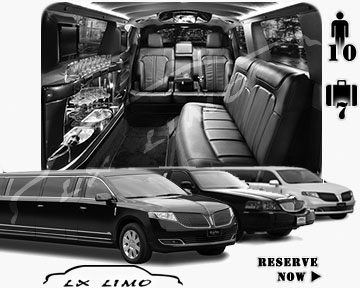 Stretch Limo airport shuttle in Baltimore